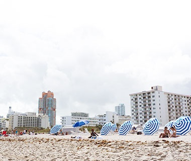people on the beach in Miami, Florida