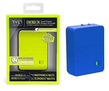 Tylt Energi 2K ac adapter and external battery