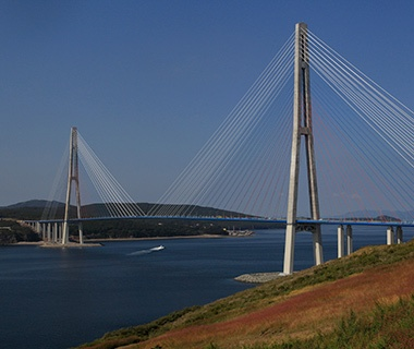Longest Cable-Stayed Bridge Span: Russky Bridge, Vladivostok, Russia