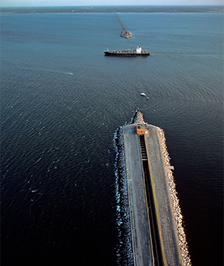 Longest Bridge-Tunnel Hybrid: The Chesapeake Bay Bridge-Tunnel, Virginia