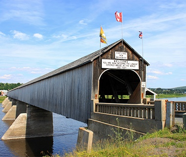 Longest Covered Bridge:The Hartland Bridge, New Brunswick, Canada