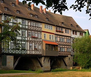 Longest Inhabited Bridge: Krämerbrücke, Erfurt, Germany