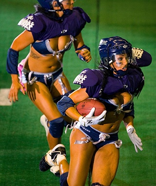 Las Vegas: Scoring with Bikini Football