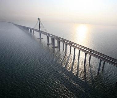 Longest Bridge Over Water (Aggregate): Jiaozhou Bay Connection Project, Qingdao, China