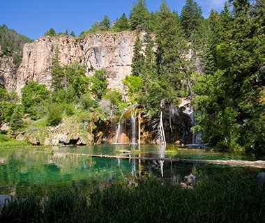 cliff along side of Hanging Lake, CO