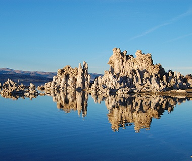 rock formations in Mono Lake, CA