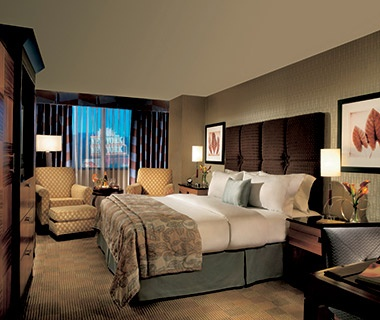 guest room at the New York–New York Hotel & Casino in Las Vegas