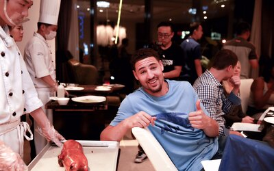 newest b0ce4 6fb29 Talking Travel with the NBA's Klay Thompson | Travel + Leisure