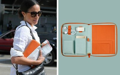 adedfc90fdd7 Where to Buy the Leather Tech Case Meghan Markle Always Travels With ...