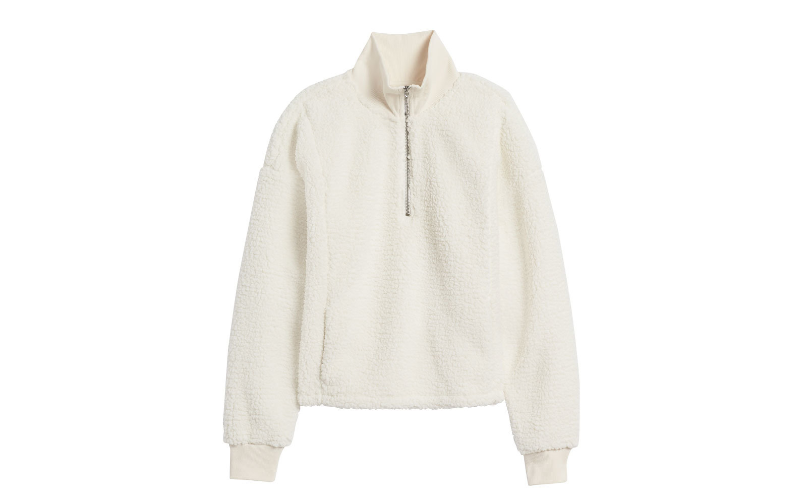 Banana Republic Sherpa Fleece Half-zip Sweatshirt