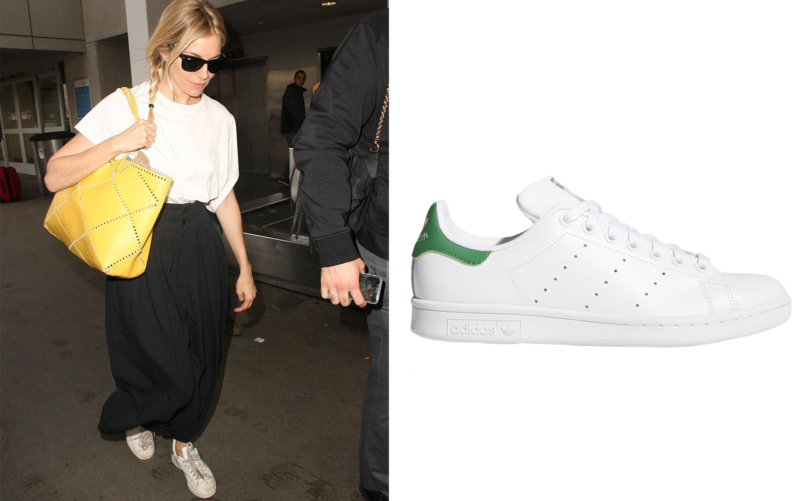 Sienna Miller in Adidas Original Stan Smiths