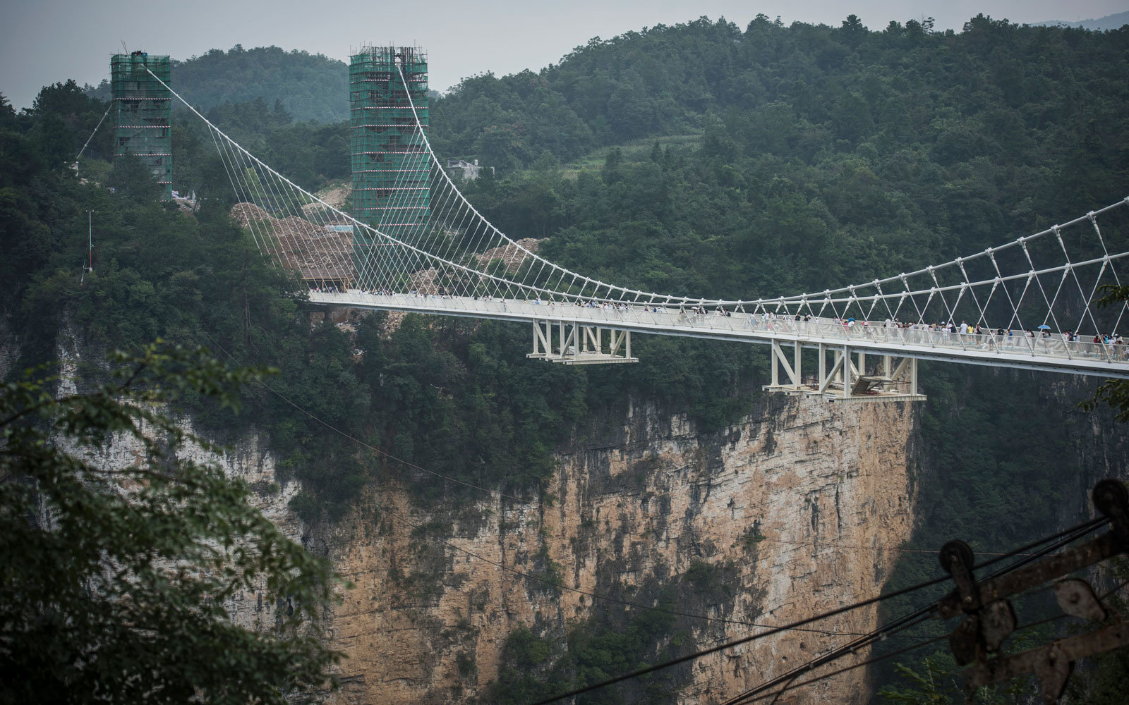 A view of the bridge, in China.