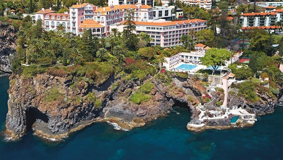 Aerial view of Belmond Reid's Palace in Portugal