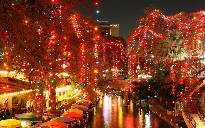 San Antonio River Walk Christmas Luminarias
