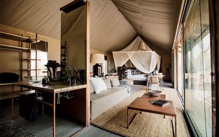 Understated luxury at the new Linkwasha Camp, in Hwange National Park.