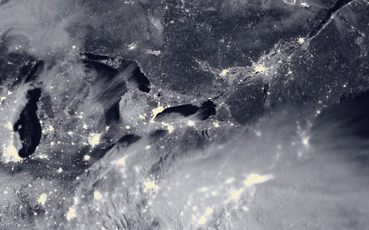 satellite view of blizzard