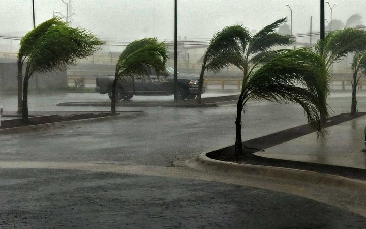 View of a street in Manzanillo, Colima state, Mexico on October 23, 2015, during hurricane Patricia. The strongest hurricane ever recorded crashed into Mexico's Pacific coast on Friday, ratcheting up fears that super-storm Patricia will unleash death and