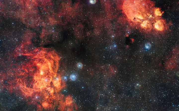 Lobster and Cat Paw Shaped Nebula