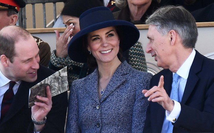 Kate Middleton Reworks a Favorite Coat with a Glorious Blue Hat