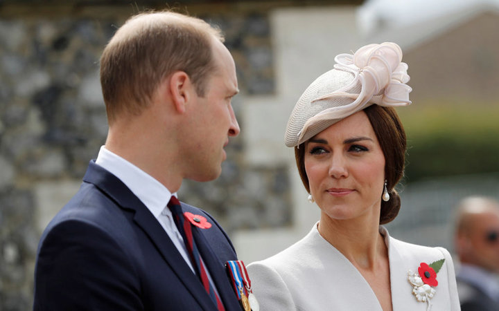 YPRES, BELGIUM - JULY 31:  Catherine, Duchess of Cambridge and Prince William, Duke of Cambridge ahead of a ceremony at the Commonwealth War Graves Commisions's Tyne Cot Cemetery on July 31, 2017 in Ypres, Belgium.  The commemorations mark the centenary o