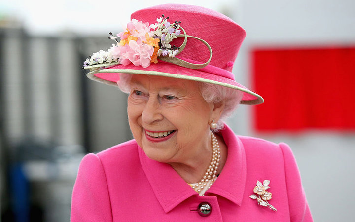 WINDSOR, ENGLAND - APRIL 20:  Queen Elizabeth II arrives at the Queen Elizabeth II delivery office in Windsor with Prince Philip, Duke of Edinburgh on April 20, 2016 in Windsor, England. The visit marks the 500th Anniversary of the Royal Mail delivery ser
