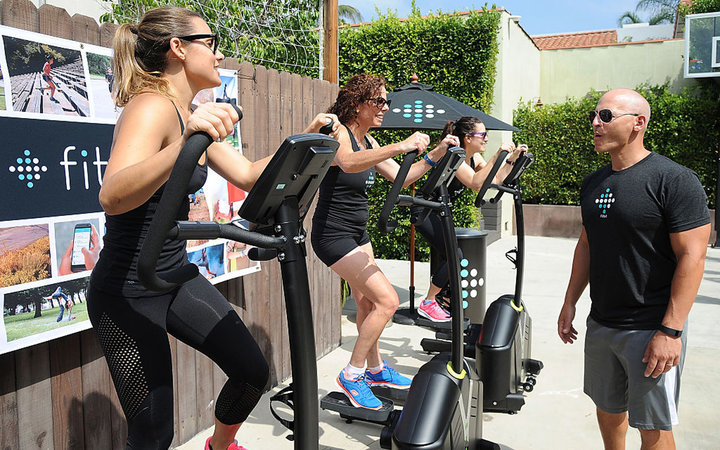 Celebrity Trainer Harley Pasternak Leads A Group Workout Using Fitbit Charge HR