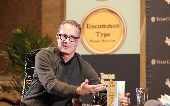 Tom Hanks promoting his book at Texas Book Festival
