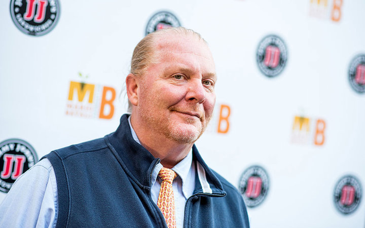 Chef  Mario Batali attends the Mario Batali foundation honors dinner honoring Jose Andres at Del Posto Ristorante on October 16, 2016 in New York City