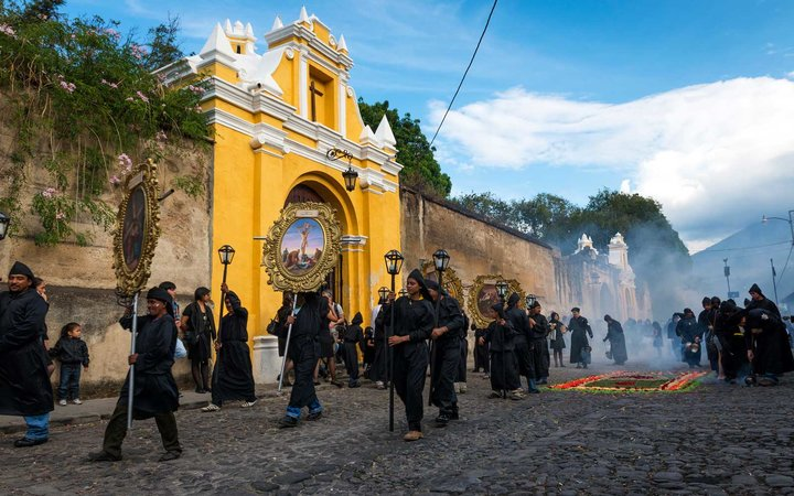 Easter Week celebrations in Antiqua, Guatemala