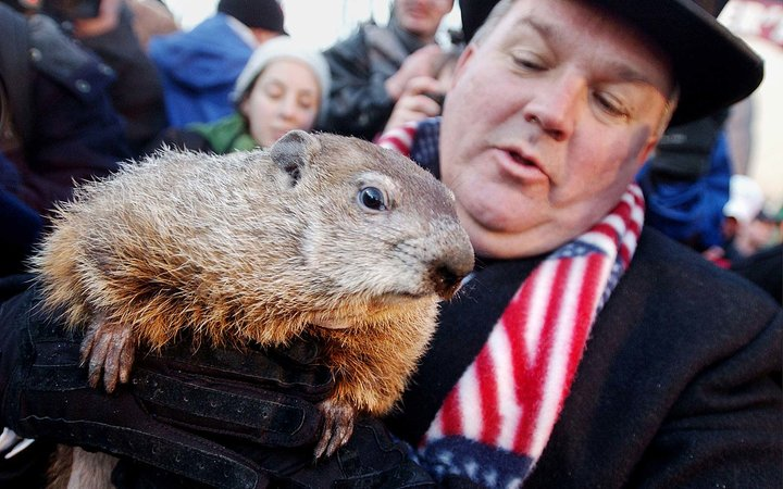 Punxsutawney Phil Season Prediction Winter Shadow Pennsylvania