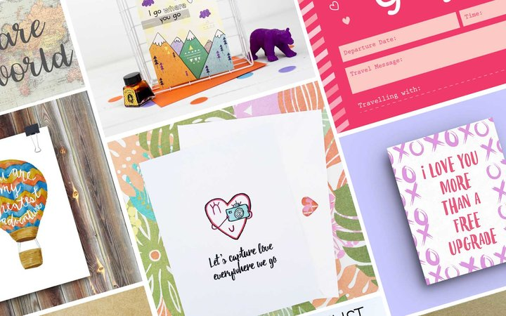 Valentine's cards for people who love to travel