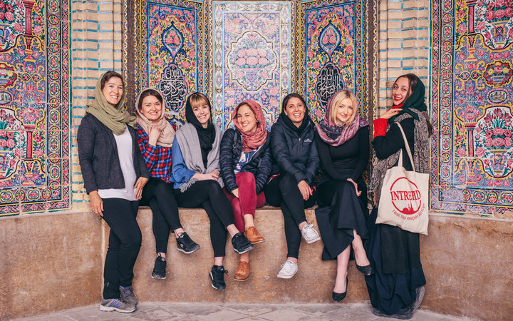 Intrepid Travel Women's Group in Iran