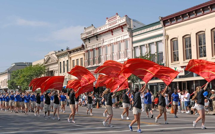 Poppy Parade in Georgetown, Texas