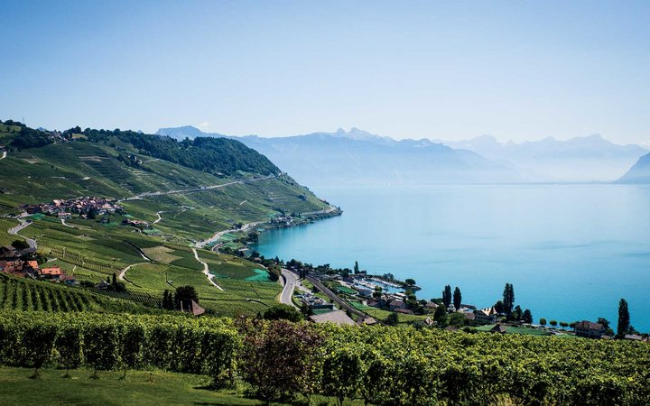 Lake Geneva, in Switzerland