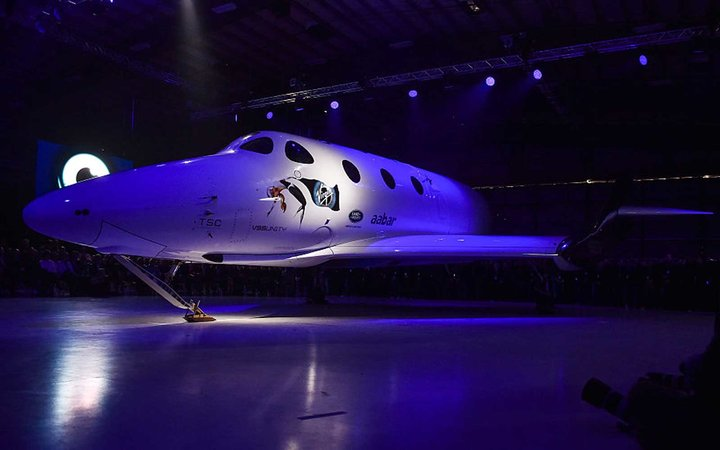 MOJAVE, CA - FEBRUARY 19: Shown is Virgin Galactic's new SpaceS