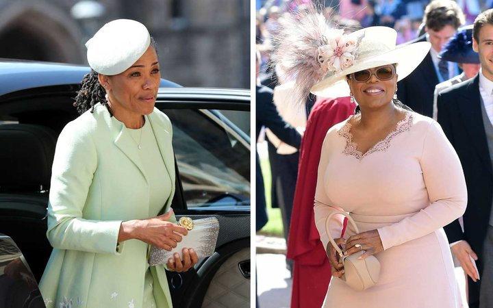 Doria Ragland and Oprah at the royal wedding