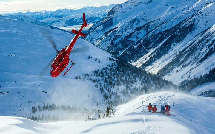 Mica Heliskiing, in the Canadian Rockies