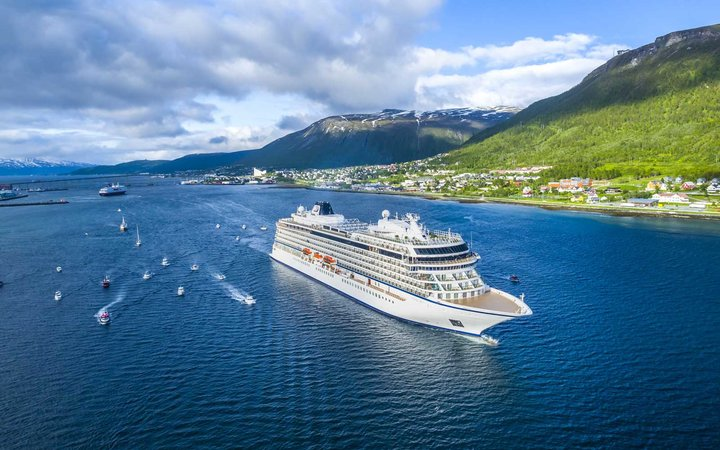 Viking Sky ship in Tromso, Norway
