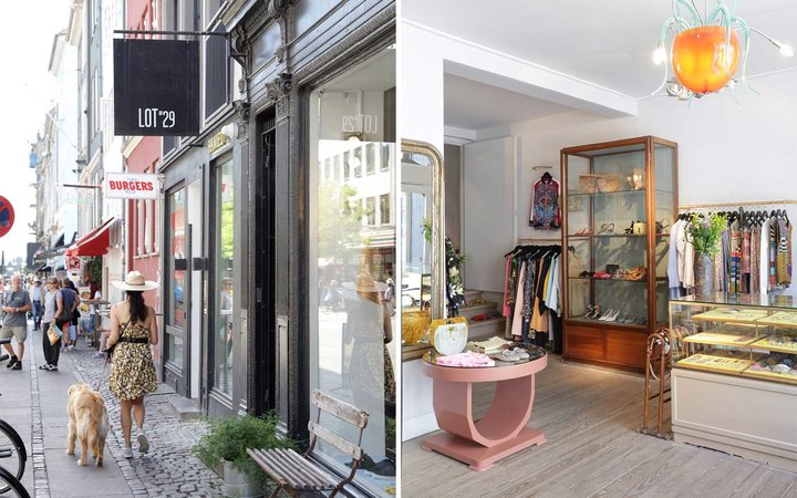 Exterior and interior of Lot 29 Shop in Copenhagen