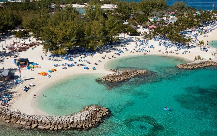 Aerial view of Coco Cay