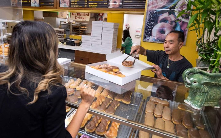 Community helps doughnut shop owner