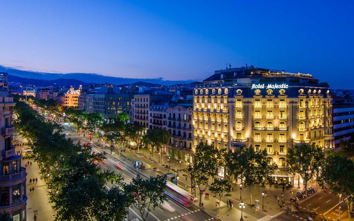 Exterior of the Hotel Majestic, Barcelona