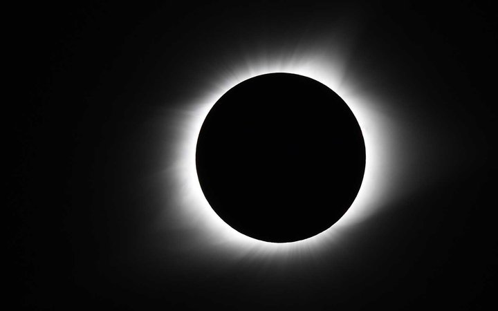 Total eclipse of the sun at the location of the longest duration of 2 minutes and 40 seconds in Hopkinsville, KY.