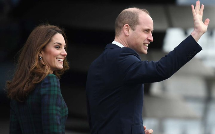 Catherine, Duchess of Cambridge and Prince William, Duke of Cambridge arrive in Dundee