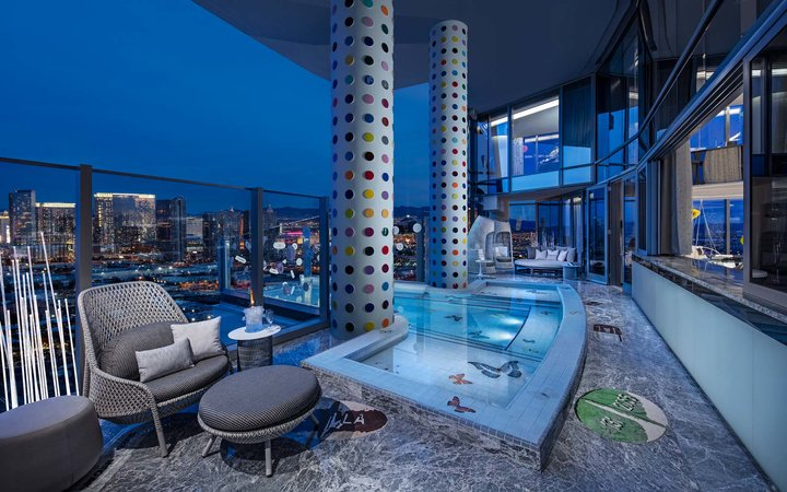 Empathy Suite balcony with pool