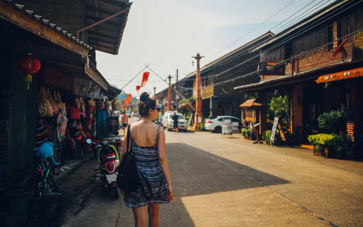 Old Town of the Koh Lanta island, Thailand