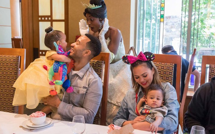 John Legend And Chrissy Teigen Visit Disneyland Resort