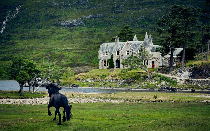 Glen Affric Estate sits surrounded by a nature reserve.