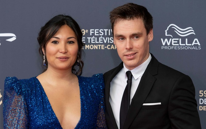 Marie Chevallier and Louis Ducruet attend the opening ceremony of the 59th Monte Carlo TV Festival