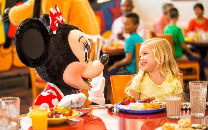 Character meet and greet at Chef Mickey's